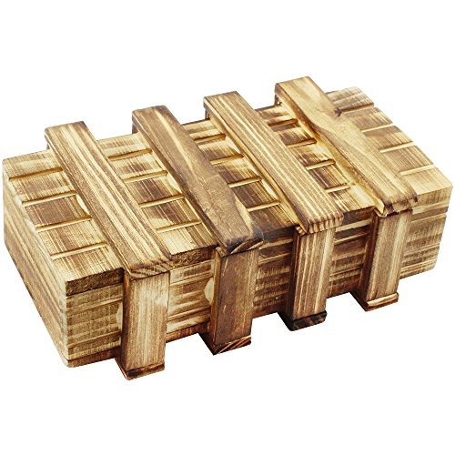 com-four® Caja mágica, Caja mágica de Madera, Caja mágica de Regalo, Caja Fuerte de Dinero, Cofre del Tesoro, Caja de Madera para Trucos