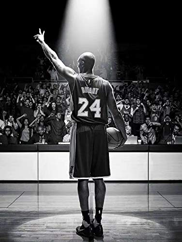 JIANGGE 24 and 8 jerseys bearing in mind the great superstar canvas poster 50X70cm frameless basketball star Kobe Bryant basketball star