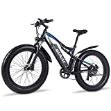 GUNAI Elektrofahrrad 1000W 26 Zoll Fat Tire Mountainbike mit Abnehmbarer 48V 17AH Lithium-Ionen...