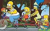 Los Simpsons,Puzzles 1000 Piezas,Juegos Educativos, Rompecabezas de Desafío Cerebral para Niños, Juguete De Regalo Ideal.A952W(38 * 26cm)
