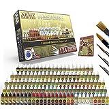 The Army Painter 🖌 | Wargamers Juego de Pintura en Miniatura Completo - Kit de Pintura en Miniatura con 124 Pinturas de Modelos, 5 Pinceles de Pintura en Miniatura y una Guía de Pintura
