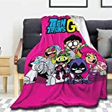 Bargley Teen-Titans-Go Lightweight Luxury Throw Blanket 50x40 in for Kid Fannel Fleece Microfiber Plush Bed Blanket Super Soft Reserviber Blanket for All Season