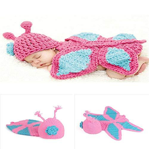 PZNSPY zoet! Hoed bretels broek set handgemaakte baby foto kostuum haken pasgeborenen baby foto rekwisieten accessoires 3