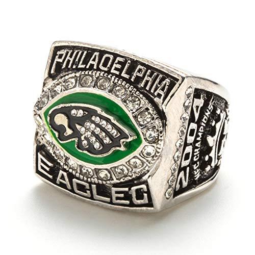 HZIH ReplicaSuper Bowl Anillos de Campeonato, Philadelphia Eagles 2004 NFC campeones del Anillo de réplica para Aficionados del Recuerdo de la colección del Regalo,Without Box,9