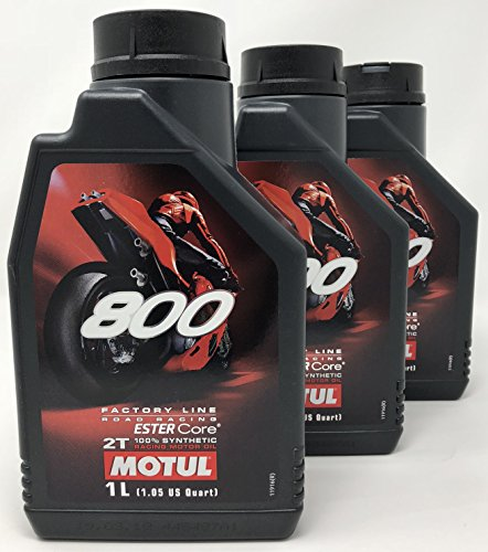 MOTUL Aceite Moto 2T - 104041 800 2T Factory Line Road Racing, 3 litros (3x1 lt)