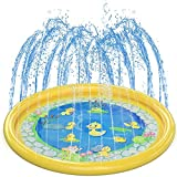 ✔ 「Tappetino antispruzzo resistente e sicuro」 ▷ Il nostro tappetino per giochi con acqua Splash è realizzato in materiale ecologico in PVC privo di BPA, lo spessore è di 0,3 mm, che è il 30% più spesso del normale tampone per irrigatore per garantire...