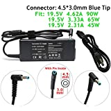 90W 65W 45W AC Adapter Charger Replacement for HP Envy Touchsmart Sleekbook 15 17 M6 M7 Series,HP Pavilion Touchsmart 11 14 15 17,14-Q039WM 14-Q049WM 14-AN013NR 15-AC121DX PPP009A PPP009D Power Cord