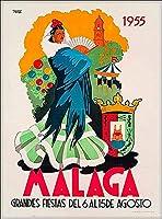 ERZAN 大人の子供のおもちゃ1955マラガスペインビンテージスペイン旅行ウォール装飾広告創造的なギフト300ピース ジグソーパズル