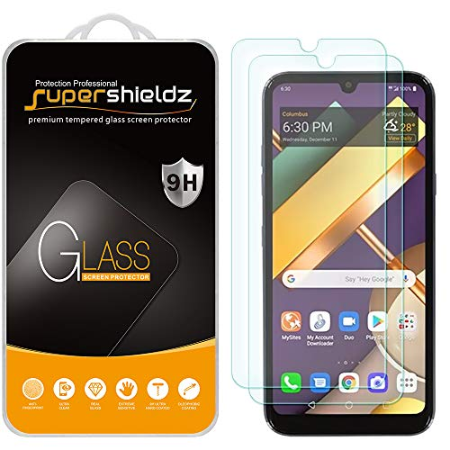 (2 Pack) Supershieldz for LG Premier Pro Plus (L455DL) Tempered Glass Screen Protector, Anti Scratch, Bubble Free