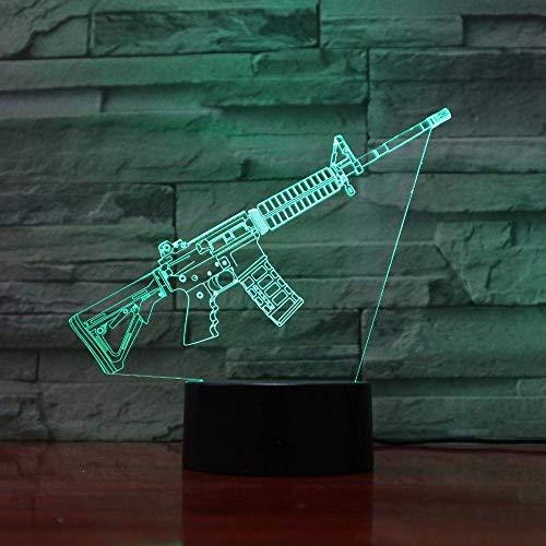 LBMTFFFFFF Lámpara Luz de Noche Lámpara de Ilusión 3D Lámpara de Mesa de Luz Nocturna Led Decoración de 7 Colores