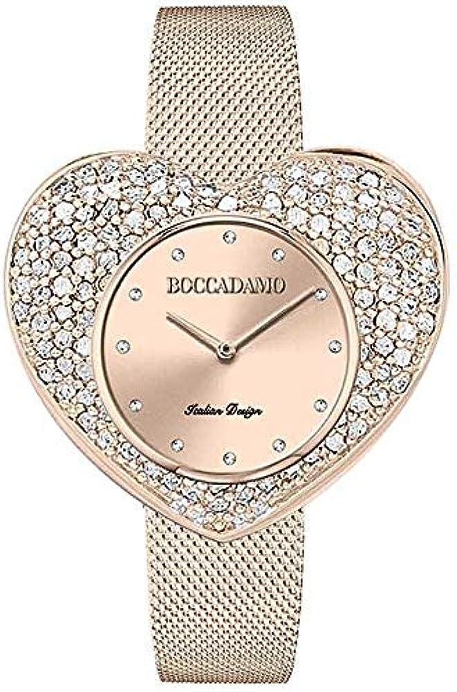 Boccadamo, orologio per donna,in acciaio e cristalli swarovski Cm003
