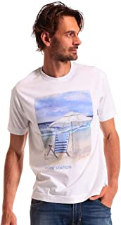 (チルコロ1901) CIRCOLO 1901 綿100% グラフィックプリント クルーネック 半袖 Tシャツ [CICN2678] [並行輸入品]