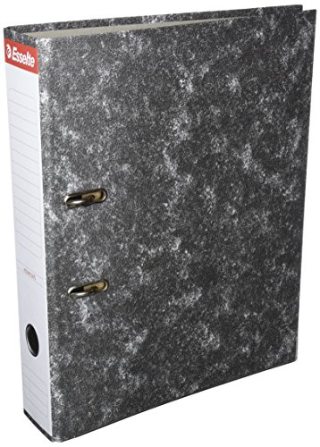 Esselte 46957 - Archivador de palanca de cartón con lomo de 75 mm, color Gris 🔥