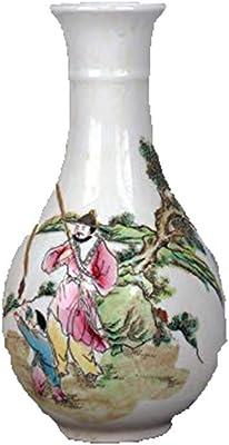 outflower ondulado patrón jarrón de cerámica (color rosa): Amazon ...