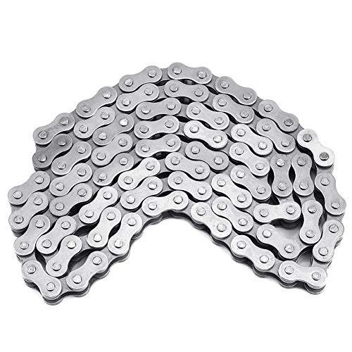Cadena de bicicleta Cadena de motor negra, Cadena de eslabones de motor de eslabones de bicicleta motorizados, para motos de cross con 428 Cadena 49cc 60cc 66cc 80cc Bicicleta motorizada
