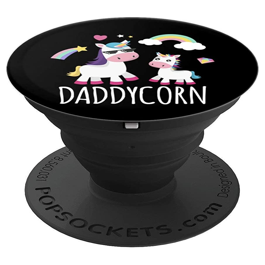 Daddycorn Unicorn Fathers Day Unicorn Dad And Baby - PopSockets Grip and Stand for Phones and Tablets