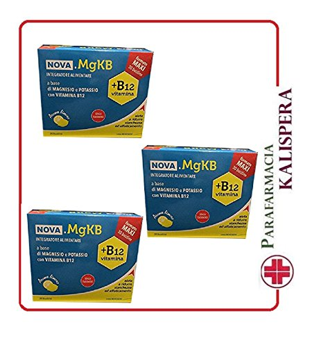 3 NOVA.MGKB 30 BST MAGNESIO E POTASSIO VITAMINA B12 SENZA ZUCCHERO AROMA LIMONE NOVA ARGENTIA