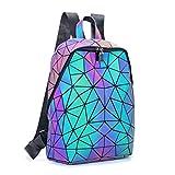 Geometric Backpack Holographic Luminous Backpacks Reflective Bag Luminesk Irredescent Rucksack Luminous NO.2