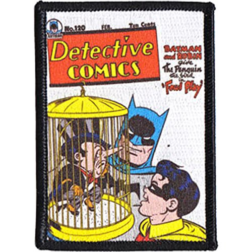DC Comics Originals Detective Comics Patch, Officially Licensed Artwork, Iron-On / Sew-On, 2.5' x 3' Embroidered PATCH PARCHE