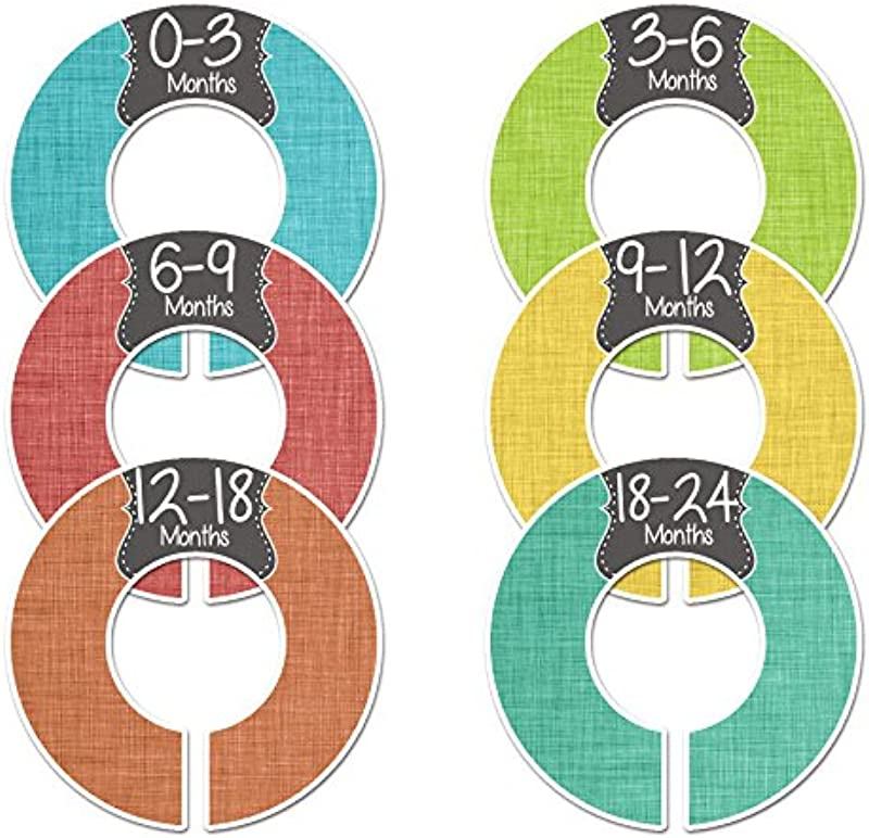 Closet Doodles C63 Boy Baby Clothing Dividers Set Of 6 Fits 1 25inch Rod