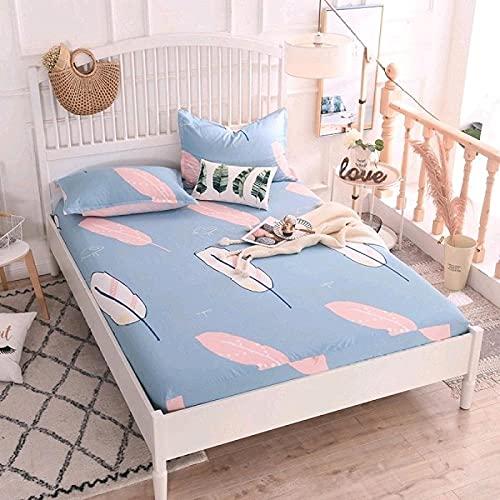 CYYyang Protector de colchón Transpirable.Rizo Bambú. Sábana de algodón Antideslizante Producto individual-20_180x200cm