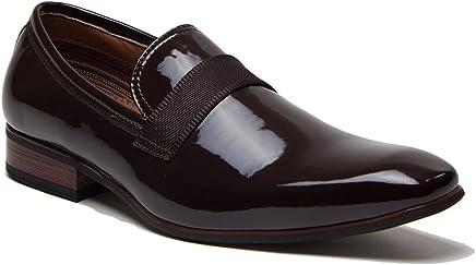 Ferro Aldo Men s 19531P Patent Leather Slip On Tuxedo Dress Shoes Loafers 1afd0da4904