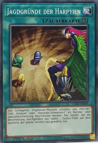 TCG GamersheavenDe - Juego de cartas de caza de Harpyien LED4-DE009 Common Yugioh