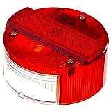 MZA Rücklichtkappe rund, rot, Ø120mm mit KZB - Simson S50, S51, S70, S53, S83, KR51/2 Schwalbe, SR50, SR80
