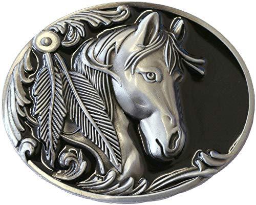STARS & STRIPES Gürtelschnalle Buckle Biker Cowboy Cowgirl Western Westernstyle »GS-406« Pferd