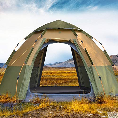 AOGUHN-tent - 3-4-persoons dome automatische tent, eenvoudige directe installatie Portable Camping Pop-Up 4 Seasons Backpacken Family Travel Tent