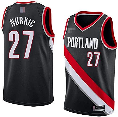 jiaju Ropa Jerseys, NBA Portland Trail Blazers # 27 Jusuf NURKIC - Classic Baloncesto Sportswear Suelte Comfort Chalecos Tops, Camisetas sin Mangas Uniformes, Negro, M (170~175 cm)