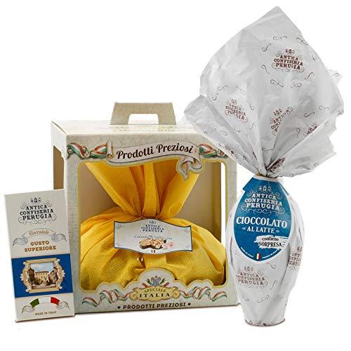 Cesto Pasquale Speciale Italia - Cesto Regalo Alimentare Antica Confiseria di Pasqua, Confezione Pasquale con Specialità Gastronomiche Artigianali Italiane: Uovo, Colomba, Cioccolato