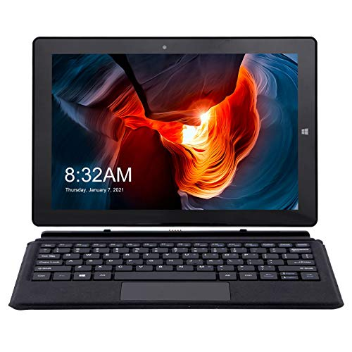 AWOW 10.1 Inch Tablet 2 in 1 Laptop Touchscreen, Windows 10 in S Mode Tablet PC with Keyboard and Stylus Pen, Intel Celeron N3450 8GB RAM 128GB eMMC, Dual Camera, 6500mAh Battery, Wifi, BT4.2