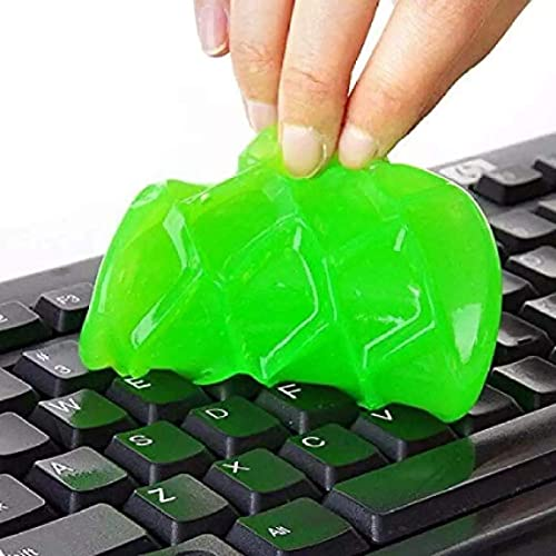 BUNLEK Magic Cleaning Gel, Cleaning Slime Gel for Cleaning Keyboard Laptops Car Interior Accessories Cleaner, Dust Remover Flexible Reusable Soft Glue