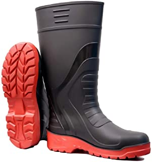 """Norwin Metro Double Density, Puncture and Tear Resistant, Anti-Slip Safety Gumboot (Size_8"""") (Height 13 inch)"""