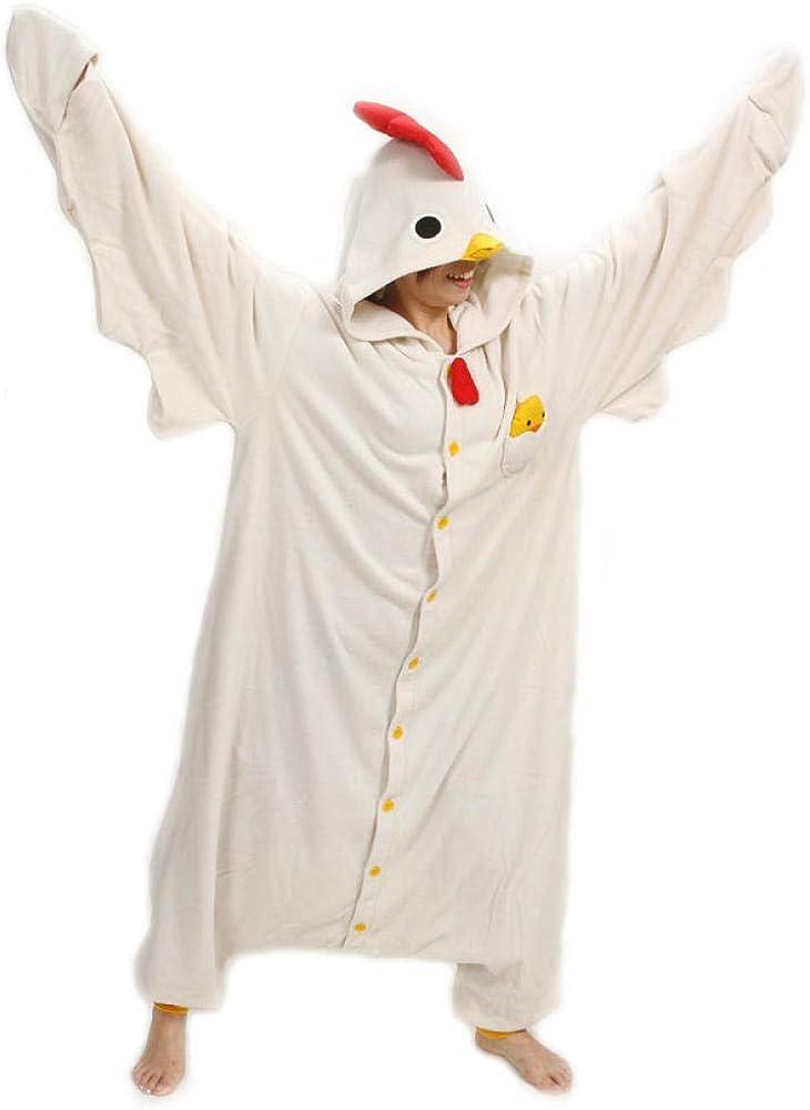 LONYENMA Unisex Animal Luxury Adult White Onesies Pajama Fashion Sete P Chicken
