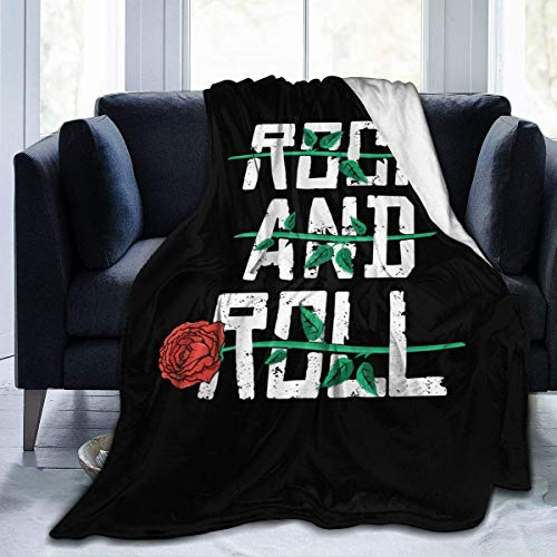 LOVE GIRL Rock and Roll Cute Throw Blanket Manta de Franela Manta de Microfibra Ultra Suave para sofá Cama Sofá
