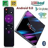 Xilibod H96 MAX TV Box Android 9.0 4GB RAM/32GB, Penta-Core Mali-450 Up to 750Mhz+, RK3318 Quad-Core 64bit Cortex-A53, H.265 Decoding 2.4GHz/5GHz WiFi Smart TV Box