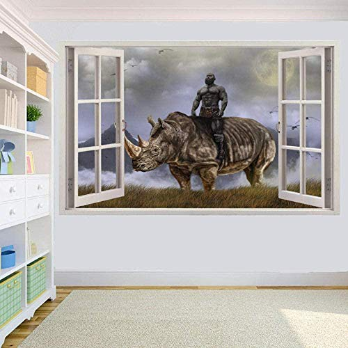 Rhino in The World Wall Stickers Room Decoration Decal Mural/Vinyl Art Mural