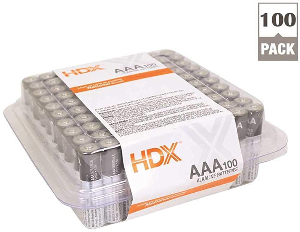 HDX 7171-100S Alkaline AAA Battery (Pack of 100)
