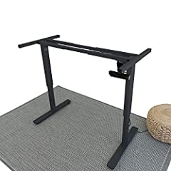 MATCH AND RETROFIT our electric smart standing desk frame with your current HOME or OFFICE decor by using an EXISTING DESKTOP. Attach your current desktop or DIY kit to our height adjustable and motorized stand up desk frame and transform your existi...