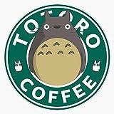 Totoro Coffee My Neighbor Totoro Sticker Vinyl Decal Wall Laptop Window Car Bumper Sticker 5'