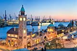 Hamburg Hafen Stadt Skyline City XXL Wandbild Foto Poster