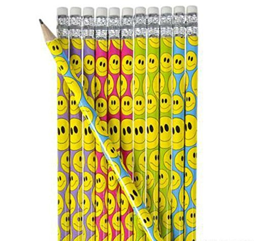 Smiley Wooden Pencil - Play Kreative TM (Smiley)