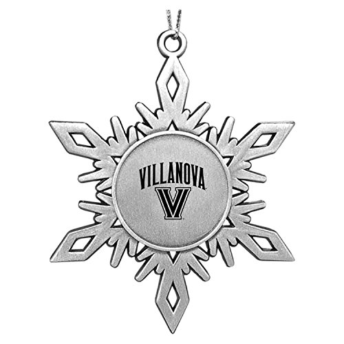 LXG, Inc. Villanova University Snowflake Ornament Pewter