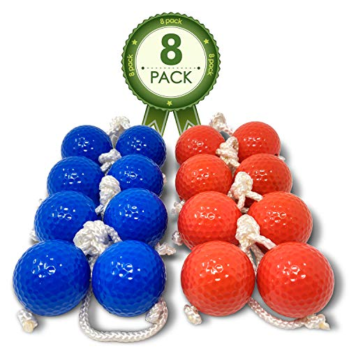 Kayco Outlet - Tournament Quality Ladder Balls Replacement – 8 Pack - for Outdoor Ladderball Toss and Golf Game Set 14.75' Size