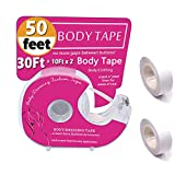 Womens Fashion Double Sided Tape for Clothing and Body, Clear Transparent Tape Suitable for All Fabric Types and All Skin Shades, 50 Ft