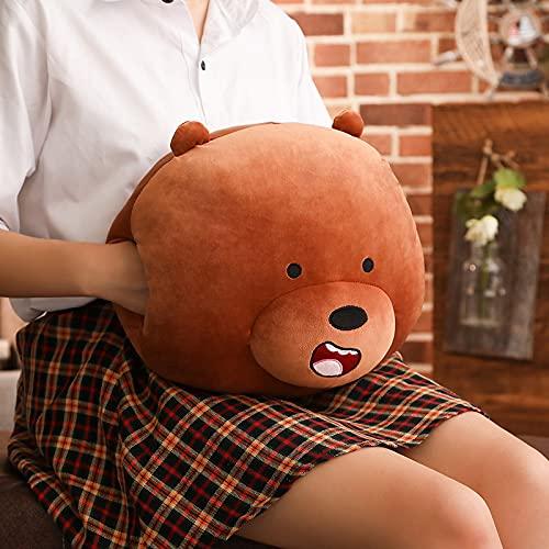 WPYLY Amor Funda de Mano cálida Funda de Mano de Oso Desnudo Creativo Lindo Panda Almohada de algodón sofá cojín de Peluche niña 35 cm A
