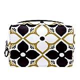 Bolsa de Maquillaje de Viaje portátil,Textura gótica Vintage ,Bolsa de cosméticos para Mujeres,Bolsa organizadora de Maquillaje con Cremallera de Belleza