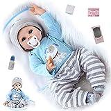 ZIYIUI 22 Pollici Bambole Reborn Dolls in Silicone Morbido 55cm Reborn Bambola Maschio Magnetica Bocca Giocattolo Ragazza Fatto a Mano Regali di Natale Reborn